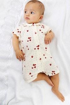 Pink Strawberry Pyjama Romper (0mths-3yrs)