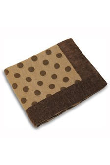 Luna Polka Dot Throw by Riva Home