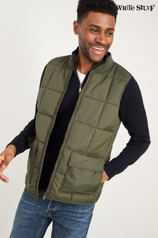 White Stuff Green Hornby Quilted Gilet