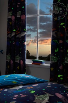 Bedlam Sea Life Glow In The Dark Curtains