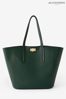 Accessorize Green Kayla Curve Tote Bag