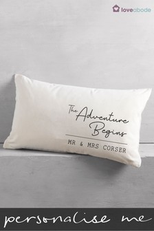 Personalised Adventure Rectangle Cushion by Loveabode
