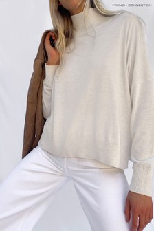 French Connection Cream Klarise High Neck Jumper