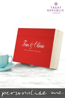 Personalised Couples Tea Box by Treat Republic