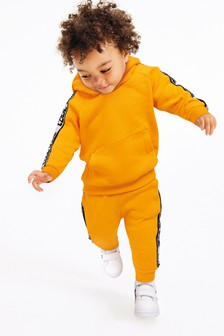 Yellow Knitted Tape Hoody And Jogger Set (3mths-7yrs)