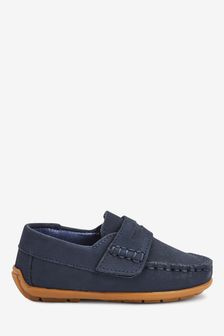 Navy Penny Loafers (Younger)