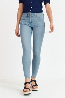 Bleach Wash Lift, Slim And Shape Skinny Jeans