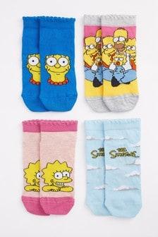 The Simpsons Trainer Socks 4 Pack