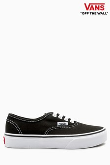 Vans Youth Black Authentic Trainers