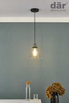 Dar Lighting Silver Ray Pendant