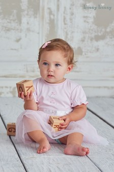 Kissy Kissy Pink Hand Embroidered Ballet Slippers Dress