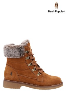 Hush Puppies Tan Florence Mid Boots