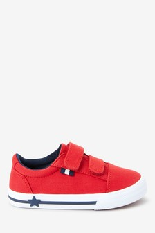 Red Strap Touch Fastening Shoes (Younger)