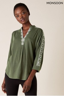 Monsoon Edie Embroidered Top