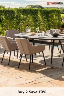 Taupe Zest 6 Seater Dining Set By Maze Rattan