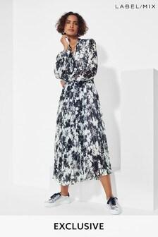 Mix/A.W.A.K.E. Mode x Caroline Issa Floral Print Dress
