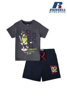 Russel Athletic Sporting Base Bean T-Shirt And Shorts Set