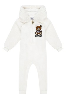 Baby Ivory Cotton Teddy Coverall
