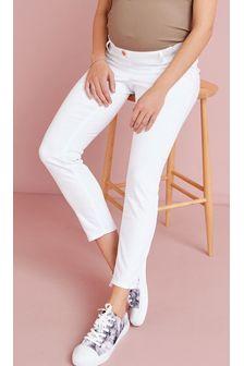 White Maternity Super Soft Skinny Jeans
