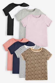 Multi 8 Pack T-Shirts (3-16yrs)