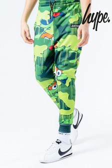 Hype. x Sesame Street Oscar The Grouch Green Camo Print Kids Joggers