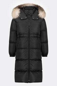 Girls Black Down Padded Tiam Coat