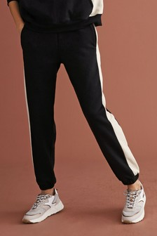 Neutral/Black Spliced Joggers