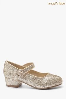 Angel's Face Gold Heeled Shoes