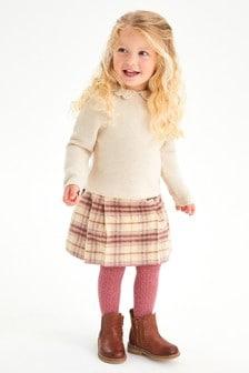 Oatmeal Crochet Collar Jumper (3mths-7yrs)