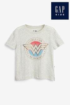 Gap Light Grey Wonder Woman Graphic T-Shirt