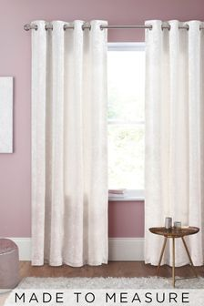Crushed Velvet Pearl Made to Measure Curtains