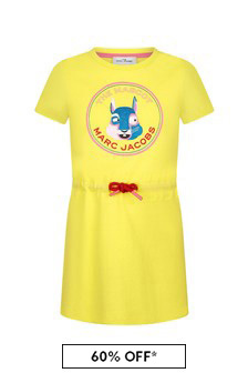 Marc Jacobs Girls Yellow Cotton Dress