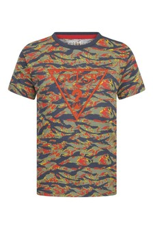 Boys Mystic Tiger Print Cotton T-Shirt