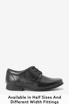 Black Standard Fit Leather Formal Lace-Up Shoes (Older)