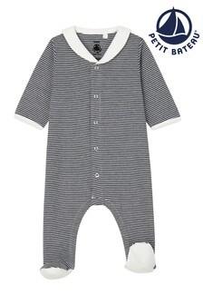Petit Bateau Navy Stripe Sleepsuit