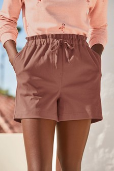 Pink Jersey Denim Run Shorts
