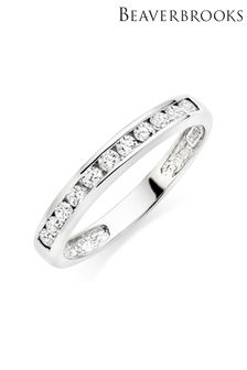Beaverbrooks Cubic Zirconia Stacking Ring