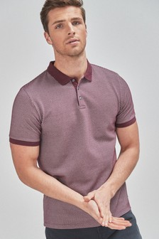 Burgundy Regular Fit Texture Polo