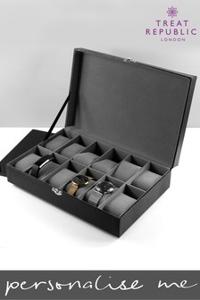Personalised 12 Piece Watch Box by Treat Republic