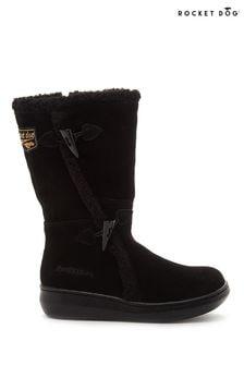 Rocket Dog Black Slope Mid Calf Winter Boots