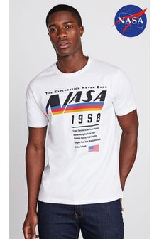 White NASA Licence T-Shirt
