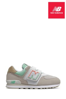 New Balance 574 Junior Velcro Trainers