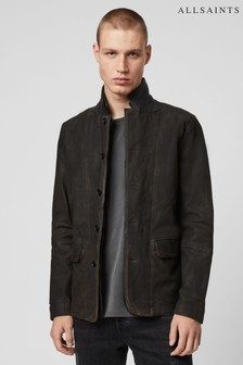 AllSaints Grey 2 in 1 Leather Jacket