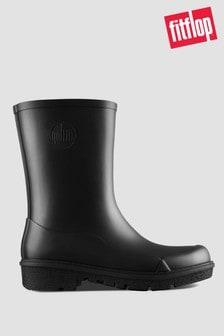 FitFlop™ Black Wonderwelly Short Wellington Boots