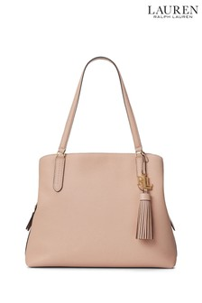 Lauren Ralph Lauren Leather Triple Compartment Hobo Bag