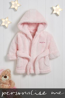 Personalised Pink Fluffy Robe