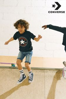 Converse Navy Infant Little Kids Chuck Ox High Trainers
