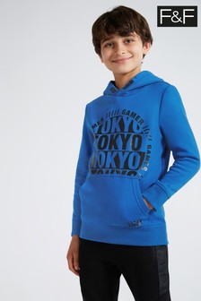 F&F Blue Over The Head Tokyo Hoodie