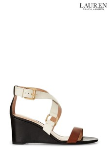 Ralph Lauren Multi Leather Wedge Chadwell Sandals