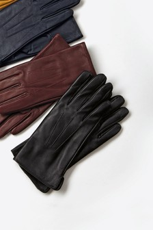 Black Leather Gloves